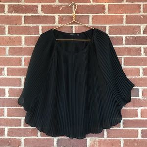 Ark & Co. pleated poncho top